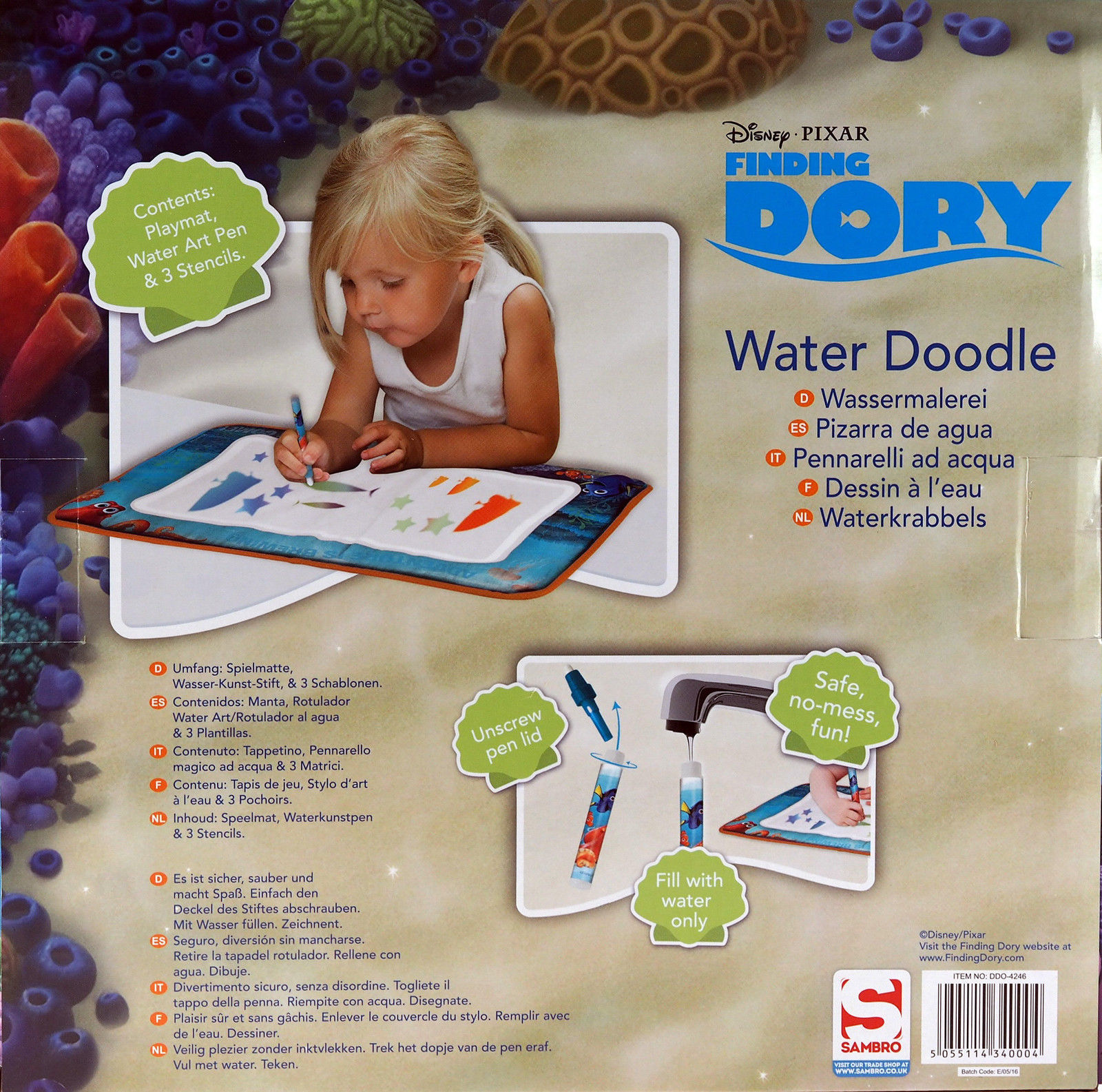 Disney Finding Dory Water Doodle Art Mat No Mess Toddlers Toy 3 Deal Locators