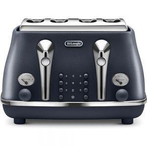 De'Longhi CTOE4003.BL Elements 4 Slice Toaster Blue