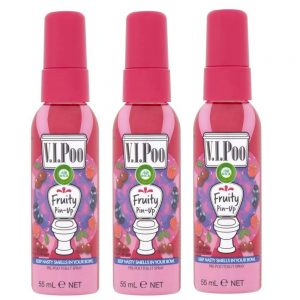 V.I.Poo Fruity Pin-Up - Pre Poo Toilet Spray 3 x 55ml