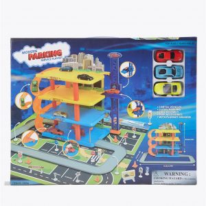 Modern Parking Service Playset with Diecast Cars