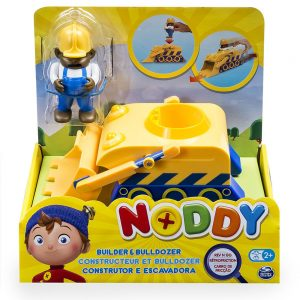 Noddy Pullback Rev n Go Vehicle and Figure - Builder and Bulldozer