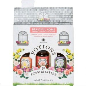 POTIONS & POSSIBILITIES Gift Set Home Diffuser Oils Collection 3 x 9ml