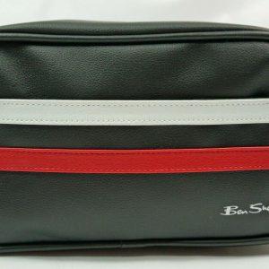 Ben Sherman Mens Wash Bag Black/Red/White