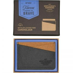 Gentlemen's Hardware Mens Recycled Leather Fibre Card Holder