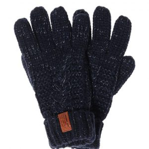 Superdry North Cable Gloves - Navy Sparkle