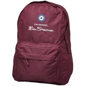 Ben Sherman Boys Classic Logo Backpack Tawny Port Backpack