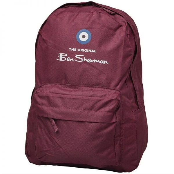 Ben Sherman Boys Classic Logo Backpack Tawny Port Backpack