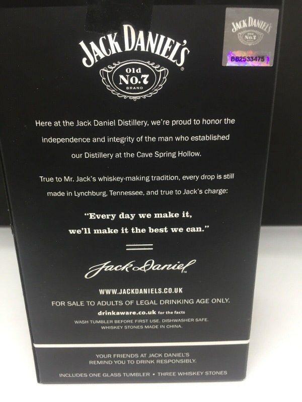 Jack Daniels Whisky Stones & Tumbler Gift Set