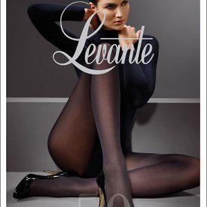 Levante Suede Matte 50 Denier Soft Opaque Tights - NERO Tall