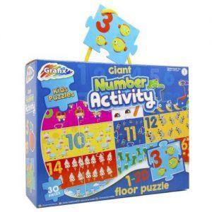 Grafix Kids Puzzles - Giant Number Activity
