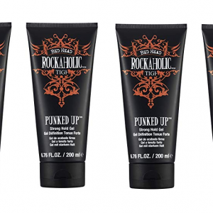 4 x TIGI Bed Head Rockaholic Punked Up Strong Hold Gel 200ml