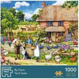 Corner Piece By Farm Yard Gate Jigsaw Puzzle - 1000 Pieces