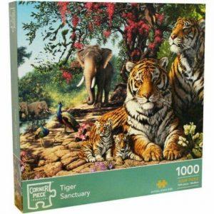 Corner Piece Tiger Sanctuary 1000 Piece Jigsaw Puzzle