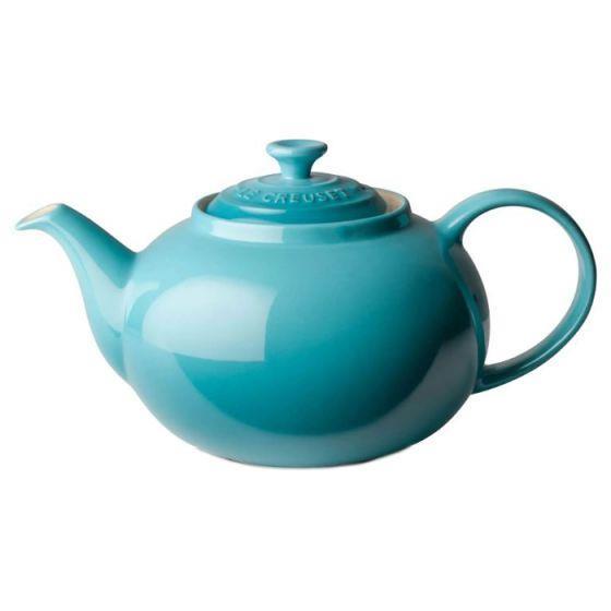 LE CREUSET Classic Stoneware Teal Teapot 1L