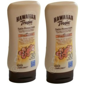 2 X 180ml Hawaiian Tropic Satin Protection Ultra Radiance SPF 30