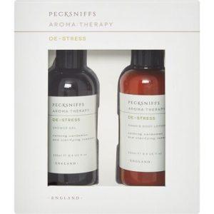 Pecksniffs Aromatherapy De-Stress Set Shower Gel 250ml & Hand/Body Lotion 250ml