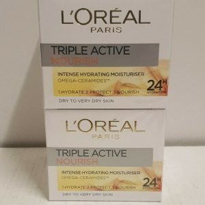 2 x L'Oreal Paris Triple Active Nourish Intense Hydrating Moisturiser 50ml