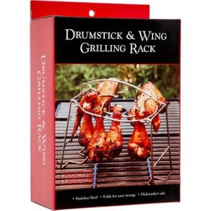 Charcoal Companion Stainless Steel Drumstick & Wing Grilling Rack