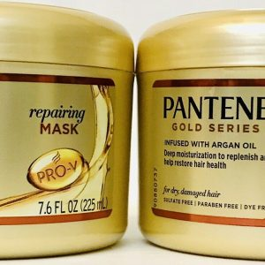 2 x PANTENE PRO-V Gold Series Reapairing Mask Infused with Argan Oil 225ml