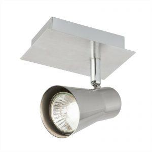 2 x Verve Design - Swansea Brushed Stainless Steel Adjustable Single LED Spotlight