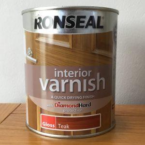 RONSEAL Interior Varnish-Quick Drying-Gloss Teak