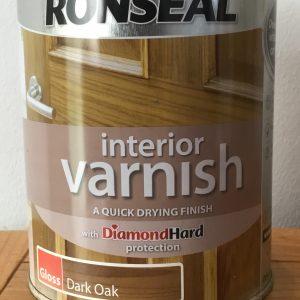 RONSEAL Interior Varnish - Quick Drying - Dark Oak Gloss