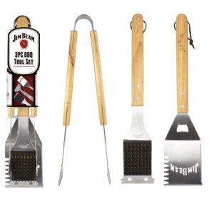 Jim Beam Three Piece BBQ Tool Set 40 x 7 x 4cm