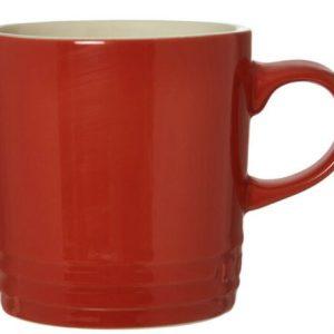 2 x Le Creuset Chilli Red Stoneware Cappuccino Mug 200ml