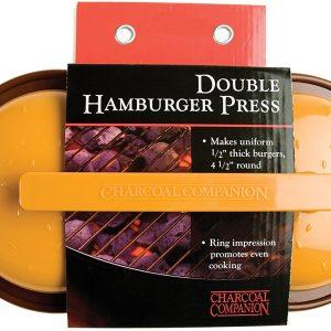 Charcoal Companion Yellow & Brown Double Hamburger Press