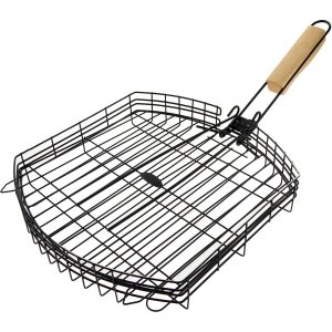 Jim Beam Black Grill Basket With Foldable Handle 31x31cm